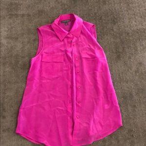 Tinley Road hot pink sleeveless blouse